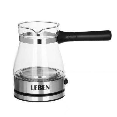 286-020 LEBEN Турка электрическая с выключателем 0,4л, 230V/50~60Hz, 500Вт, 2 цвета, пластик