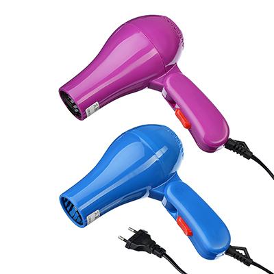 Фен дорожный 500Вт/60Гц/220В, пластик, 2 цвета