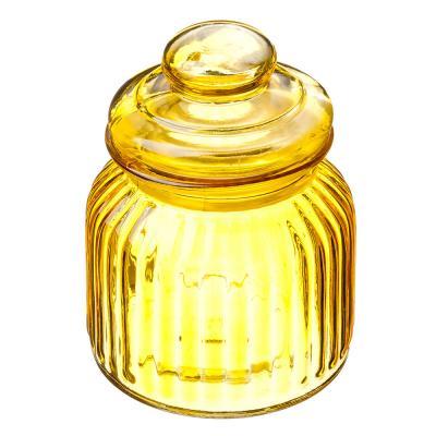 828-177 Банка для сыпучих продуктов, 800мл, стекло, 4 цвета