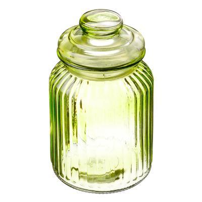 828-178 Банка для сыпучих продуктов, 1000мл, стекло, 4 цвета