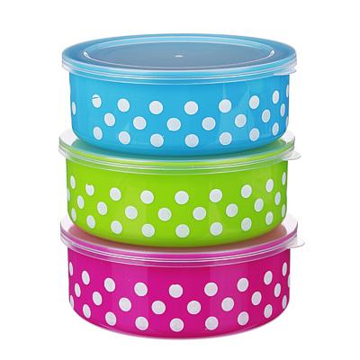 893-109 Набор пищевых контейнеров 3 шт, пластик, 3 цвета