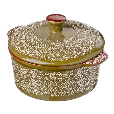 826-235 Горшочек с крышкой для запекания и сервировки, керамика, 500мл, MILLIMI