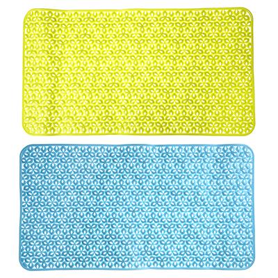 """403-072 VETTA Коврик в ванну противоскользящий, ПВХ, 72x38см, """"Цветы"""", 3 цвета"""