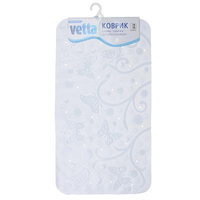 """403-073 VETTA Коврик в ванну противоскользящий, ПВХ, 70x38см, """"Бабочки"""", 3 цвета"""