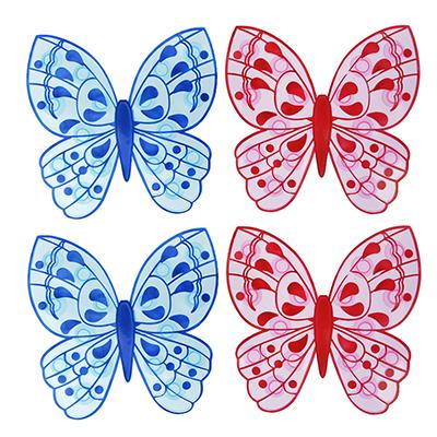"403-077 Набор мини-ковриков для ванны противоскользящих 4шт, ПВХ, 13х12,7см, VETTA ""Бабочка"""