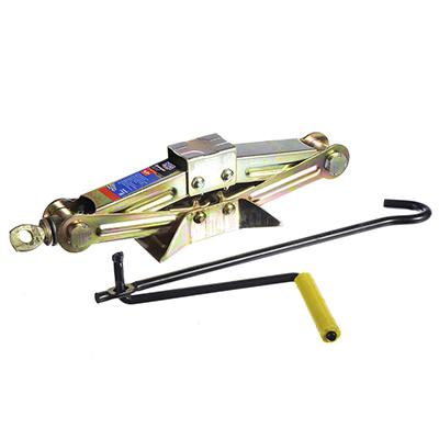 743-001 NEW GALAXY Домкрат механический ромбический 0,8т, высота подъема 80-275мм, желтый цинк