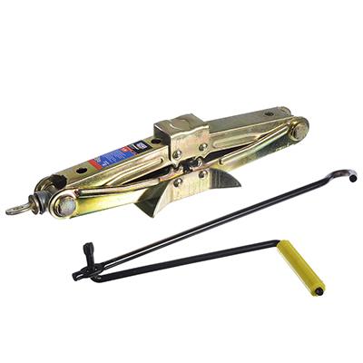 743-004 NEW GALAXY Домкрат механический ромбический 1,5т, высота подъема 85-335мм, желтый цинк