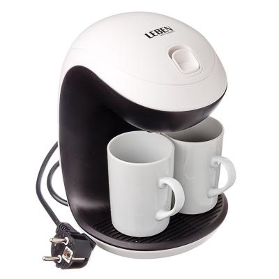 Кофеварка капельная 350Вт две керамические чашки 0,3л