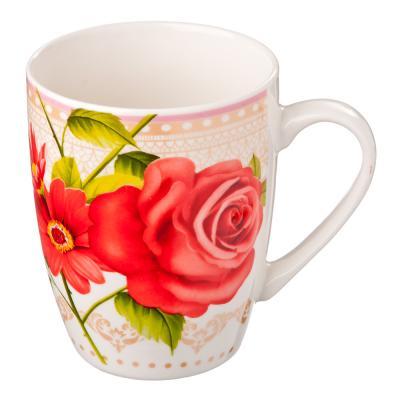 806-129 Кружка 350мл, фрф, Розовый сад, 4 дизайна
