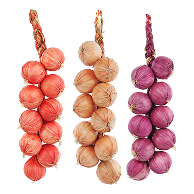 501-446 Овощи искусственные в виде лука, 10 шт, пластик, 3 цвета