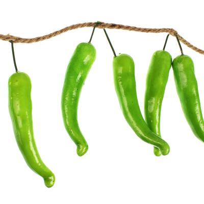 501-448 Овощи искусственные в виде перца, 10 шт, пластик, 2 цвета