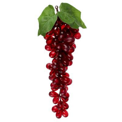 501-452 LADECOR Фрукт искусственный в виде винограда, пластик, 85 ягод, 4 цвета