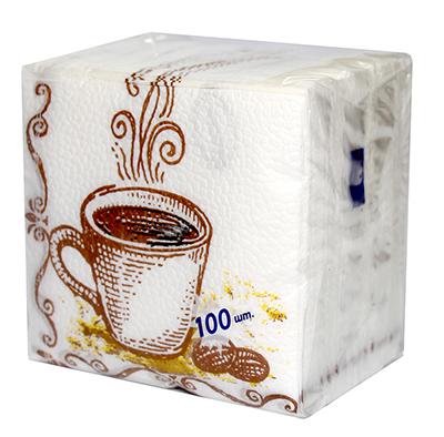 912-011 Салфетки бумажные Лилия с рисунком 1сл 100л