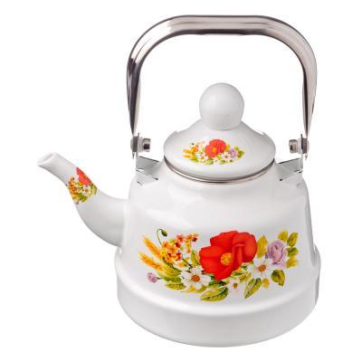 894-404 Чайник эмалированный 1,1 л Полянка