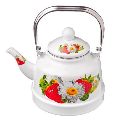 """894-405 Чайник эмалированный, 2,5 л, """"Полянка"""""""