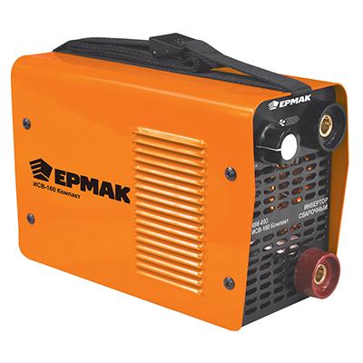696-003 ЕРМАК Инвертор сварочный ИСВ-160 Компакт, 220В, 3,1 кВА, 20-160А, электроды 1,6-4 мм, раб цикл 60%