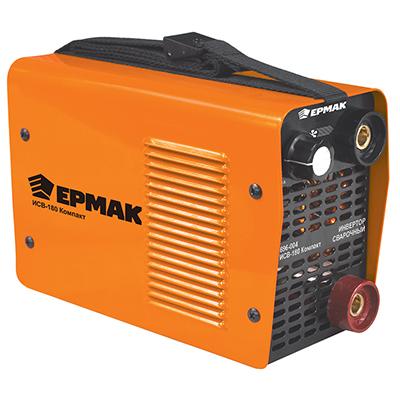 696-004 ЕРМАК Инвертор сварочный ИСВ-180 Компакт, 220В, 3,3 кВА, 20-180А, электроды 1,6-4 мм, раб цикл 60%