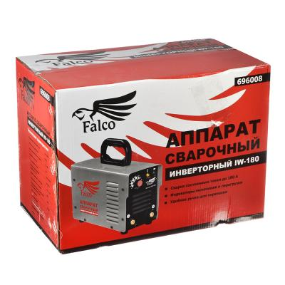 696-008 FALCO Инвертор сварочный IW-180 220В, 10-180А, электроды 1,6-4,0 мм,