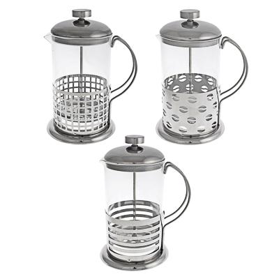 850-162 Френч-пресс 800 мл Ивет, стекло/нержавеющая сталь