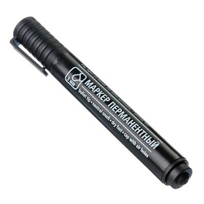 526-503 Маркер перманентный черный, пулевидный наконечник, линия 3мм