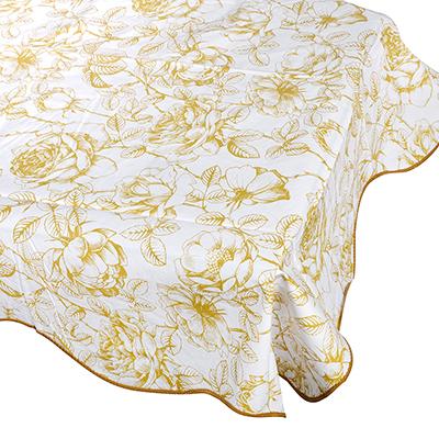 479-179 Скатерть на стол виниловая, клеенка с каймой, 137x137см, VETTA