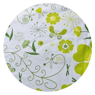 479-184 Скатерть на стол виниловая клеенка с каймой круглая VETTA d137см