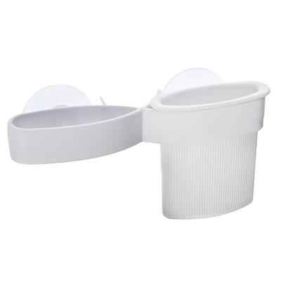 463-791 Держатель для зубных щеток и пасты, пластик, 17,5х4,5х9см