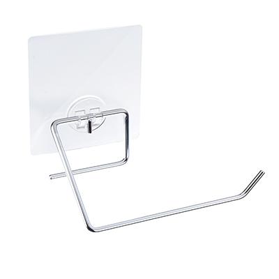 463-792 Держатель для туалетной бумаги хром с силиконовым креплением, 15x8,5x5см