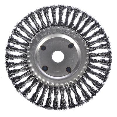 656-108 РОКОТ Щетка металл. для УШМ200мм/22мм, крученая, дисковая