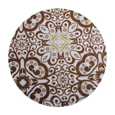 479-202 Скатерть на стол виниловая, клеенка с ажурной каймой, 137x137см, VETTA