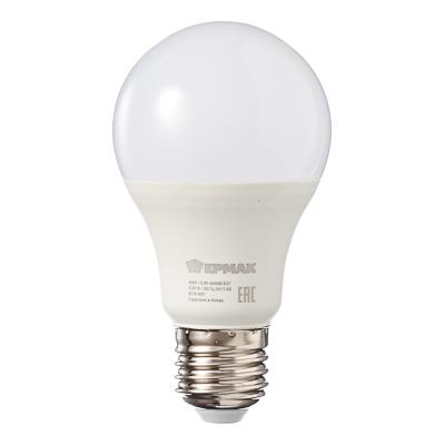624-001 ЕРМАК Лампа светодиодная A60, 10 Вт, E27, 850 Лм, 4000К, холодный свет