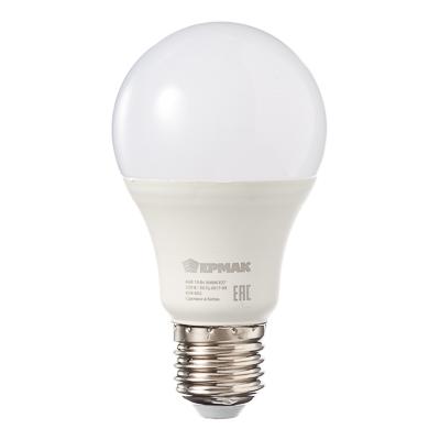 Лампа светодиодная A60, 10 Вт, E27, 850 Лм, 3000К, теплый свет