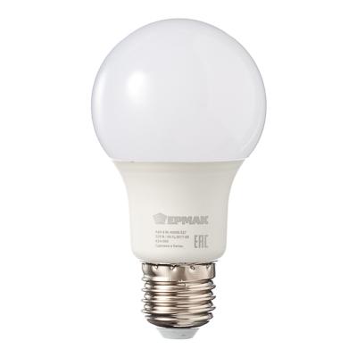 Лампа светодиодная A60, 8 Вт, E27, 640 Лм, 4000К, холодный свет