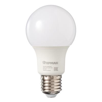 Лампа светодиодная A60, 8 Вт, E27, 640 Лм, 3000К, теплый свет