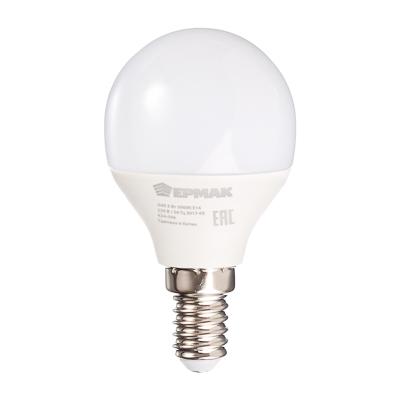624-006 ЕРМАК Лампа светодиодная G45, 5 Вт, E14, 400 Лм, 3000К, теплый свет
