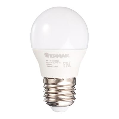 Лампа светодиодная G45, 5 Вт, E27, 400 Лм, 3000К, теплый свет