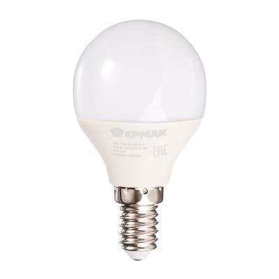Лампа светодиодная G45, 7 Вт, E14, 560 Лм, 3000К, теплый свет