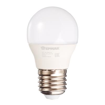 ЕРМАК Лампа светодиодная G45, 7 Вт, E27, 560 Лм, 3000К, теплый свет