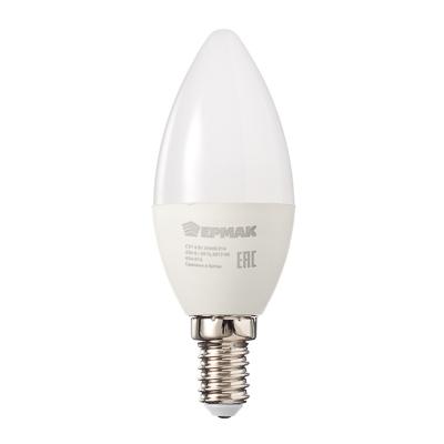 624-016 ЕРМАК Лампа светодиодная свеча С37, 6 Вт, E14, 480 Лм, 3000К, теплый свет