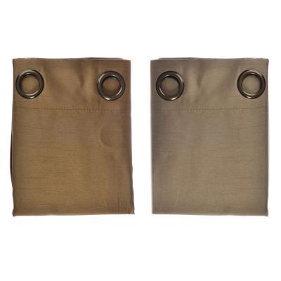 499-014 Комплект штор 2 шт., на 8 люверсах, искусственный шелк, 1,4x2,6м, 2 цвета