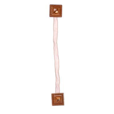 """491-382 Магнит для штор двухсторонний на капроновой ленте """"Блестящий квадрат"""", 4,5x4,5см, 4-5 цветов"""
