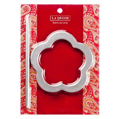 491-383 Подхват для штор с палкой,d14см, палка 20см, формы: круг, овал, цветок