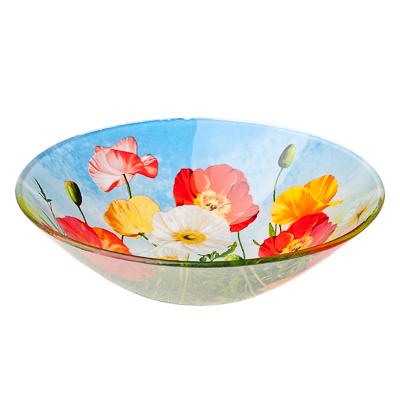830-459 VETTA Цветущий луг Салатник стекло 178мм