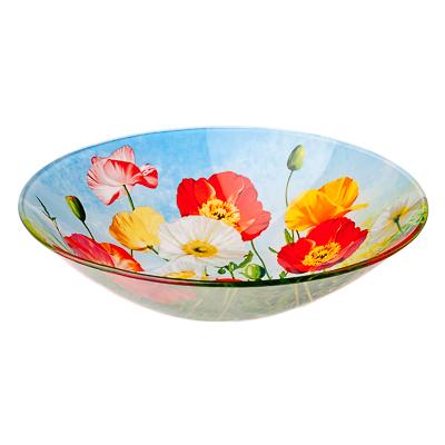 830-460 VETTA Цветущий луг Салатник стекло 228мм