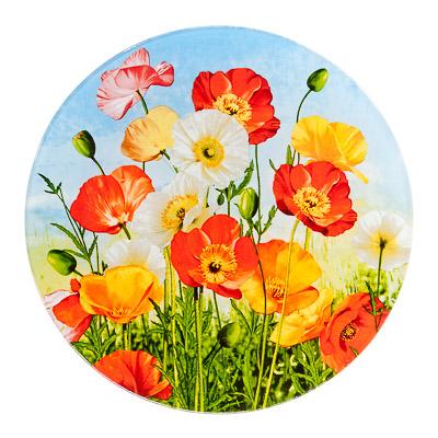 830-462 VETTA Цветущий луг Тарелка подстановочная стекло 229мм