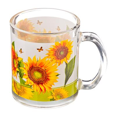 830-463 VETTA Солнечный цветок Кружка стекло 270мл