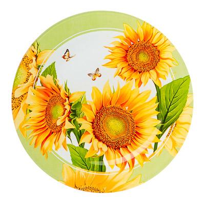 830-467 VETTA Солнечный цветок Тарелка подстановочная стекло 254мм