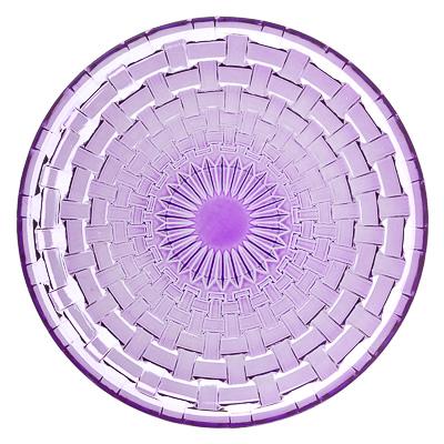 877-571 Каприз Тарелка десертная, 20см, стекло, фиолетовый