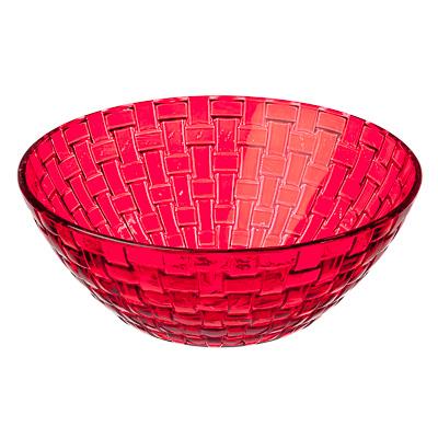 877-575 Коралл Салатник, 800мл, стекло, красный