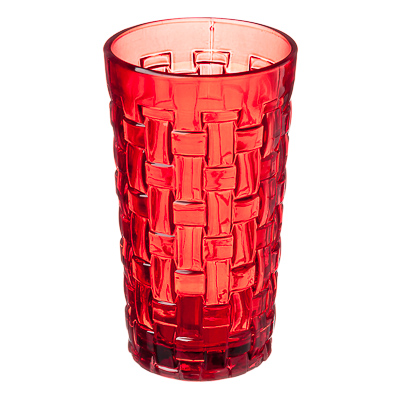 878-201 Коралл Стакан, 300мл, стекло, красный